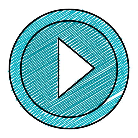 Play icons illustration design.