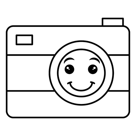 Photographic camera isolated icon illustration design.