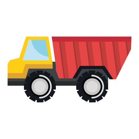 Truck dump isolated icon illustration design. Illustration