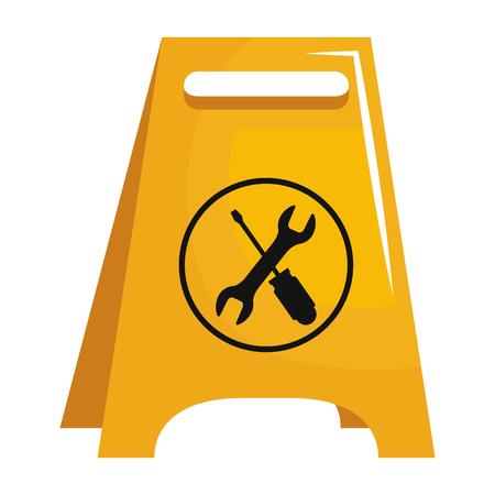 Construction label isolated icon illustration design. Stock Illustratie