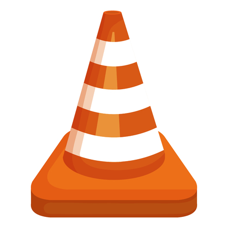 Construction cone isolated icon illustration design.
