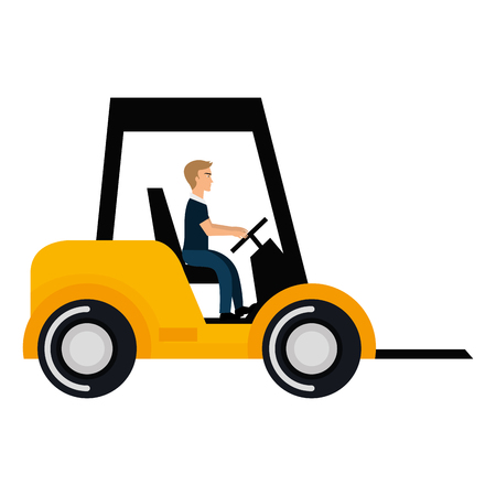 forklift vehicle isolated icon vector illustration design Illusztráció