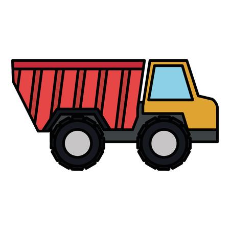 トラックダンプ分離アイコンベクトルイラストデザイン