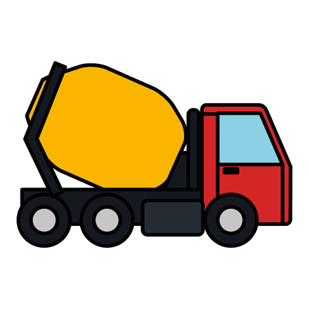 concrete mixer truck icon vector illustration design