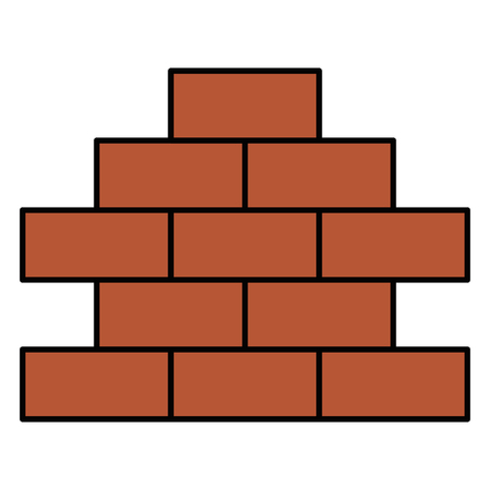 Bricks wall pile icon vector illustration design