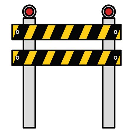 Clôture de construction isolée icône vector illustration design Banque d'images - 92418359