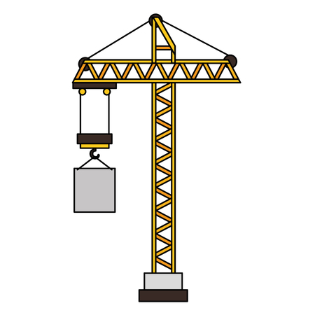 Construction grue tour icône vector illustration design Banque d'images - 92424588