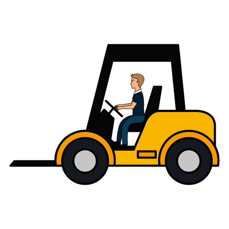 forklift vehicle isolated icon vector illustration design Stock Vector - 92417756