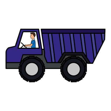 truck dump isolated icon vector illustration design