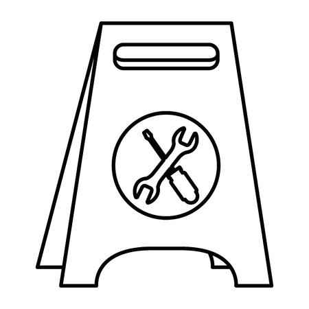 Progettazione dell'illustrazione di vettore dell'icona isolata etichetta della costruzione Archivio Fotografico - 92419287