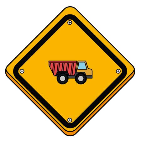 덤프 트럭 벡터 일러스트 레이 션 디자인으로 교통 신호입니다. 일러스트