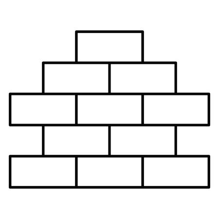 ontwerp van de het pictogram het vectorillustratie van de bakstenen muurstapel