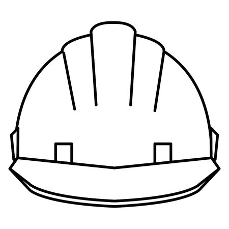 A helmet construction isolated icon vector illustration design