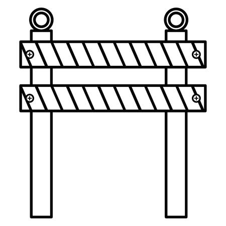 Uma cerca de construção isolada ícone vector ilustração design Foto de archivo - 92419023
