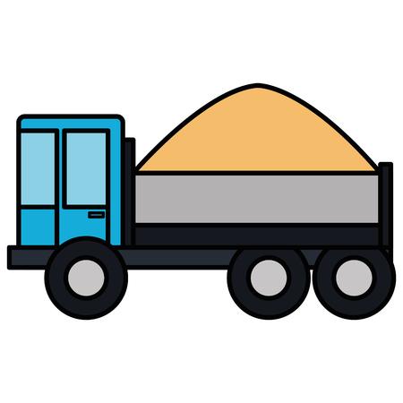 truck dump with concrete vector illustration design Stock Photo
