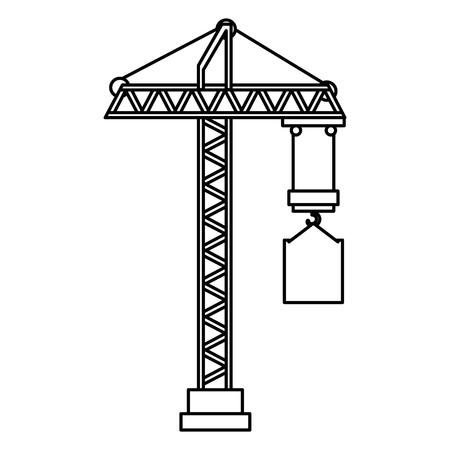 Construction grue tour icône vector illustration design Banque d'images - 92441503
