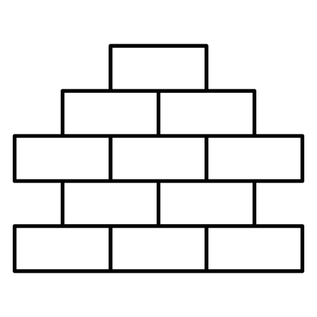 bricks wall pile icon vector illustration design Stock Photo