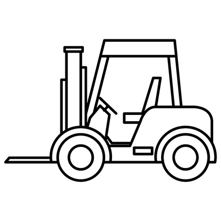 forklift vehicle isolated icon vector illustration design Stock Photo
