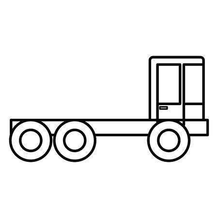 ●建設トラック分離アイコンベクトルイラストデザイン
