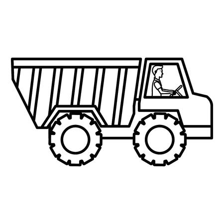 Truck dump isolated icon illustration design. Illusztráció