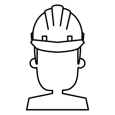 Construction worker with helmet vector illustration design. Ilustrace