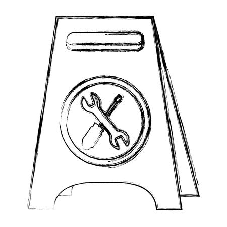Progettazione dell'illustrazione di vettore dell'icona isolata etichetta della costruzione Archivio Fotografico - 92435009