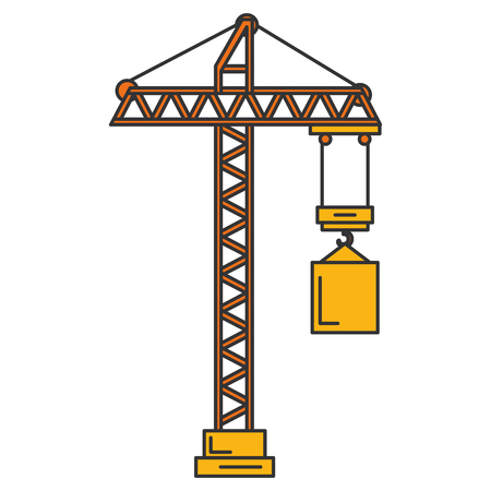 construction crane tower icon vector illustration design Çizim