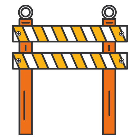 Diseño aislado cerca del ejemplo del vector del icono de la construcción Foto de archivo - 92435075
