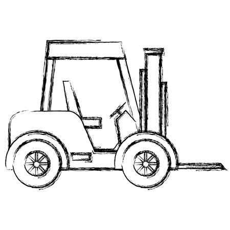 Forklift vehicle isolated icon vector illustration design. Illustration