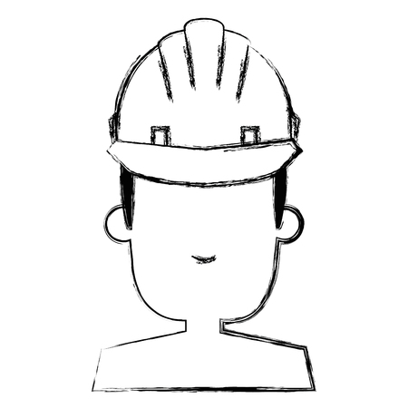 construction worker with helmet vector illustration design