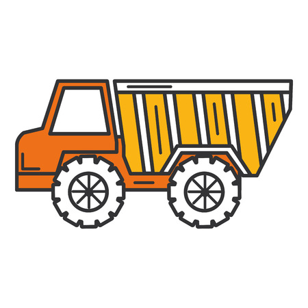 Truck dump isolated icon vector illustration design.