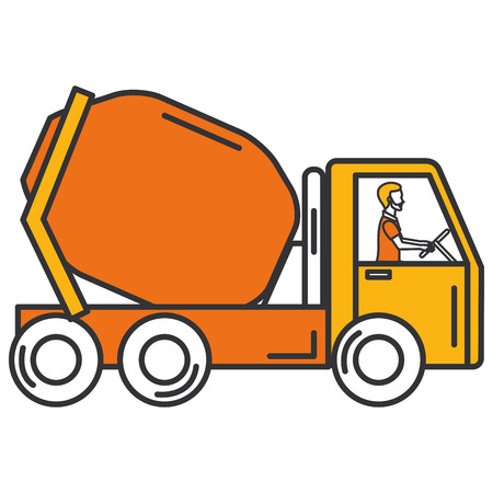 concrete mixer truck icon vector illustration design