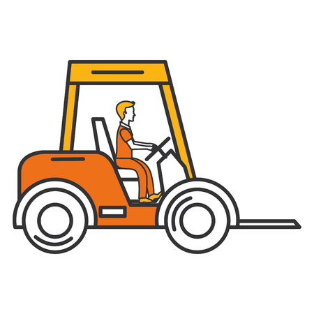 forklift vehicle isolated icon vector illustration design Stock Vector - 92476426