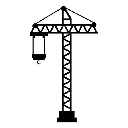 Construction grue tour icône vector illustration design Banque d'images - 92437264