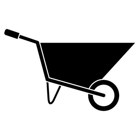 wheel barrow isolated icon vector illustration design Illustration
