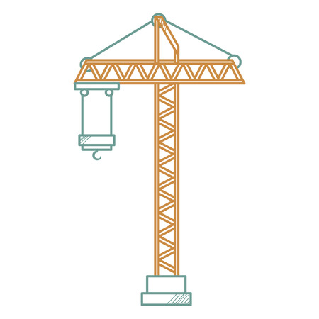 construction crane tower icon vector illustration design Ilustracja