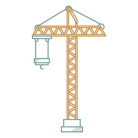 Construction grue tour icône vector illustration design Banque d'images - 92535925