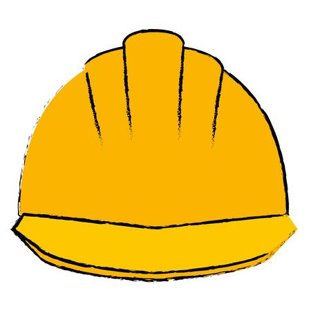 Helmet construction isolated icon illustration design.