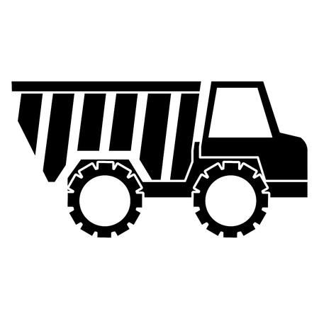 트럭 덤프 격리 아이콘 그림 디자인입니다. 일러스트