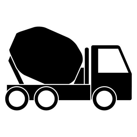 Concrete mixer truck icon illustration design.