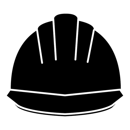 Helmet construction isolated icon illustration design.