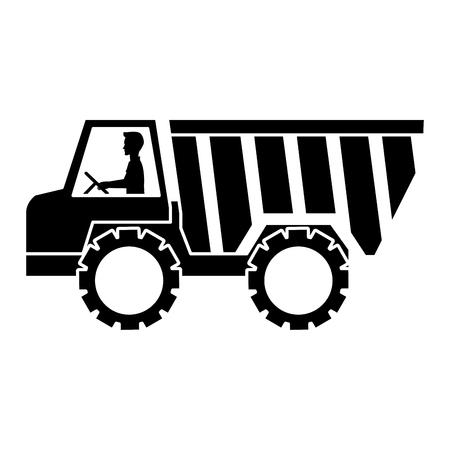 ●トラックダンプ分離アイコンイラストデザイン。  イラスト・ベクター素材