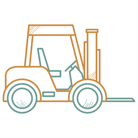 Forklift vehicle isolated icon vector illustration design. Vectores