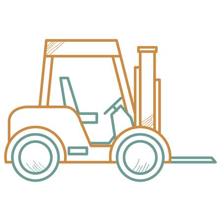 Forklift vehicle isolated icon vector illustration design. Stock Illustratie