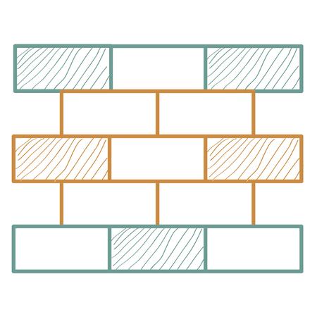 벽돌 벽 더미 아이콘 벡터 일러스트 디자인
