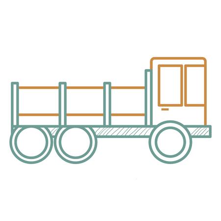 建設トラック分離アイコンベクトルイラストデザイン  イラスト・ベクター素材