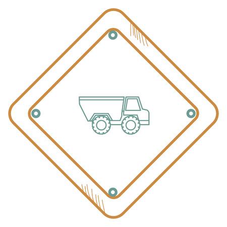 덤프 트럭 벡터 일러스트 디자인으로 교통 신호 일러스트