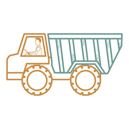 truck dump isolated icon vector illustration design