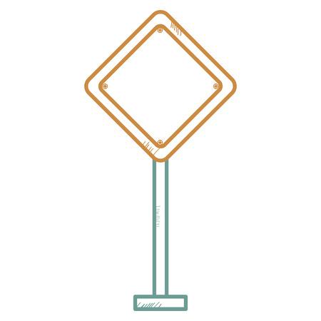 교통 신호 다이아몬드 아이콘 벡터 일러스트 디자인 일러스트