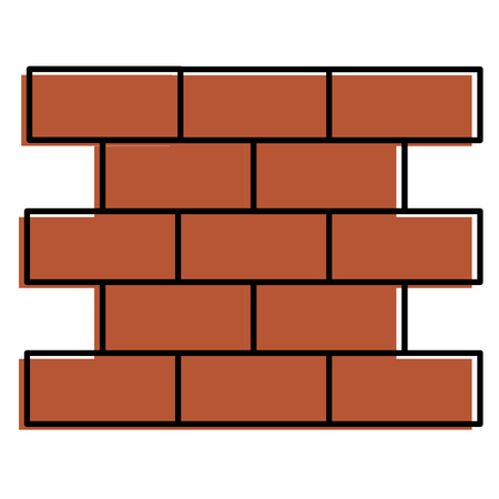 bricks wall pile icon vector illustration design Illustration